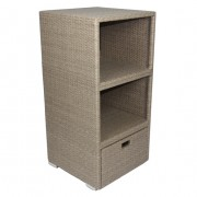 Synthetic rattan sideboard